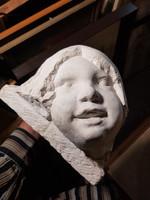 R.Törley Mária szobor, kb.20x22x25 cm, gyermekfej