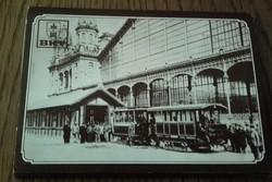 10 db képeslap régi közlekedési eszköz képeslap fotója mappában-a BKV kiadványa