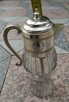 Fém Olasz díszkancsó Italia, ezüst hatású, ezüstözött kanna, karaffa, dekantáló.