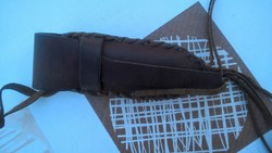 Régi Polyák bicska erősen használtas bőrtokban