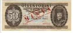 50 forint 1980 Minta UNC 213-as sorszám