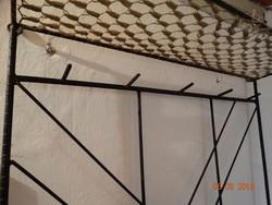 Kovácsoltvas előszobafal falra akasztható 92x175cm