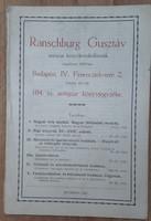 RANSCHBURG GUSZTÁV 104. SZ. ANTIQUAR KÖNYVJEGYZÉKE
