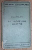 ENYVVÁRI JENŐ : PHILOSOPHIAI SZÓTÁR   1923