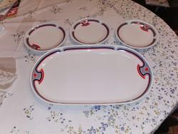 Alföldi porcelán tál 38 x 22.5 cm + 3 db kis tányér