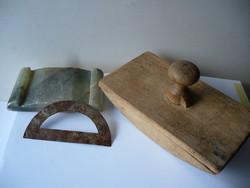 Antik tapper,márványtapper alja+antik fém szögmérő