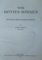 VON GOTTES SONNEN  -  BETRACHTUNGSPUNKTE   1930