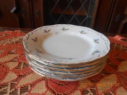 Zsolnay arany tollazott, barackvirág mintás süteményes tányérok 6 db