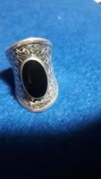 Ezüst gyűrű    13  g   925    onix  kőves