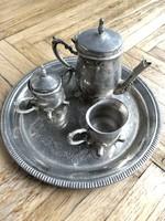 Mini ezüstözött kávés kínáló!