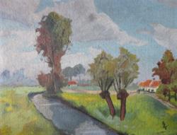Giovanni Giacometti eredeti tájképe