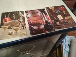3 db posta tiszta új évi képes lap