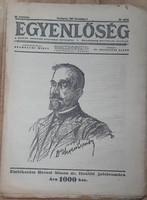 EGYENLŐSÉG - A MAGYAR ZSIDÓSÁG POLITIKAI HETILAPJA  -  JUDAIKA