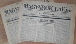 MAGYAROK LAPJA   2 DB   1936  - 37
