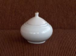 Modern Alföldi Porcelán cukortartó, Chinoin logóval, ritka, hibátlan