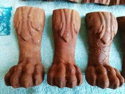 10 db antik oroszlánkörmös öntvény láb
