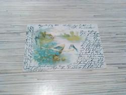Antik Üdvözlő képeslap.(1903).