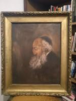 Zsidó öregember festmény