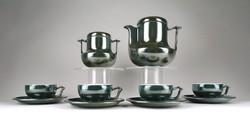 1C363 Modern eozén mázas porcelán kávéskészlet