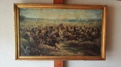 A friedlandi csata (1807. június 14.), kerettel együtt 80x130cm,