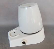 Régi üvegburás fürdőszobai fali lámpa , borotválkozó lámpa