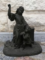 Szobor csoport, imádkozó angyaka szép darab!kedves hangulatos fém szobor, jó öntés, kvalitás!