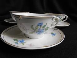 Drasche teás/hosszú kávés szettek szellőrózsás-ibolyás mintával