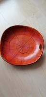 Liszkay jelzésű dekoratív kerámia tál, tányér