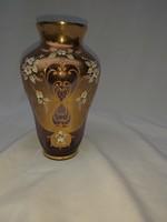 Csodálatos üveg Cseh üveg váza. 25 cm.