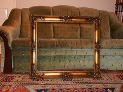 60 x 70 cm-es képhez laparanyozott minőségi keret, kitűnő állapotban