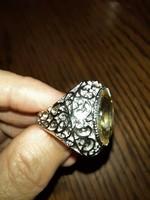 Morganit köves ródiumozott gyűrű