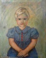 Imrich Weiner-Kral - a szépszemű kislány-eredeti festmény!