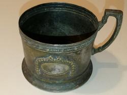 Antik, ezüst teás csésze, jelzett! - 1 forintról, garanciával!