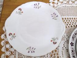 Csehszlovák porcelán tányér asztalközép , nagy süteményes tányér