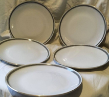 Német porcelán süteményes tányérok - 5 DB