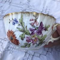 Ritka Utzschneider & Cie. - Sarreguemines kézzel festett csésze- sérült