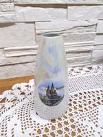 15 cm retro GDR -Budapest irizáló kis váza /ritkaság/