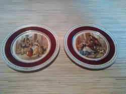 Gyönyörű Angol porcelán jelenetes tányérok.