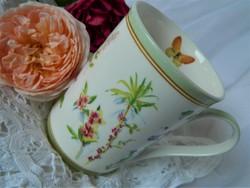 Maxwell Williems Butterfly Garden angol bögre, csésze, virág, pillangó