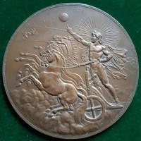 F.X.Pawlik: Helios, bronz plakett, 1885