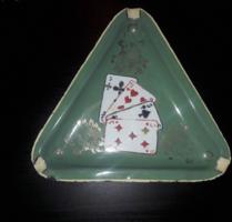 Póker mintás hamutál zománcozott
