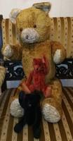 Papa és gyerekek ,3 db mackó Teddy szalma töltet, a nagy brummog. maci