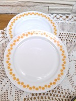 2 db retro magyar porcelán lapos tányér pótlásra