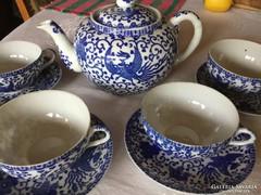 4 személyes japán porcelán, pfoenix madaras, csodás (30)