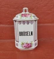 Rózsás nagyméretű fűszertartó, nosztalgia darab, paraszti dekoráció
