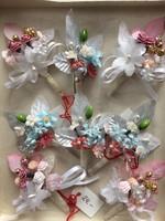 Csodás kézzel készült esküvői virág dísz, zakódísz Drezdából