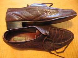 Retro Gonzalo Zapatero kézzel készült mindenhol bőr cipő 43-as