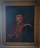 II. Rákóczi Ferenc portré! 1903-as antik olajfestmény! Mányoki után, Faragó Lajos 1903