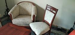 KLOSE Ülőgarnitúra 2 személyes kanapé, 2 fotel, 2 szék és hozzá tartozó dohányzó asztal