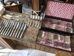 Ezüst 12 személyes étkészlet eredeti dísz dobozban